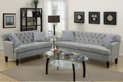 New! Taupe Velveteen Sofa and Loveseat Set FREE DELIVERY in Oceanside, California