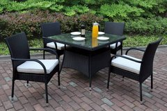 New! Black Outdoor Patio Table and 4 Chairs FREE DELIVERY in Oceanside, California