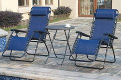 New! Pair of Zero Gravity Outdoor Patio Chairs DELIVERY AVAILABLE in Oceanside, California