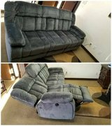 New! St. Albans Gray Fabric Power-Assist Reclining Sofa in Oceanside, California