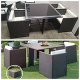 New! Modular Outdoor Patio Dining Table + 4 Chairs FREE DELIVERY in Oceanside, California