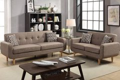 New Dorris Fabric Mocha Brown Sofa and Loveseat FREE DELIVERY in Oceanside, California
