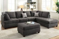 New! Ash Black Dorris Fabric Sectional Sofa FREE DELIVERY in Oceanside, California
