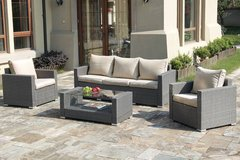 New! 4 Piece Sofa + 2 Chairs + Table Outdoor Patio Set FREE DELIVERY in Oceanside, California