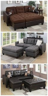 ?New Blue Gray Mini Sectional+Ottoman Sofa FREE DELIVERY in Oceanside, California