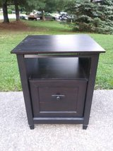 Laminate End Table with File Cabinet Drawer in Fort Leavenworth, Kansas
