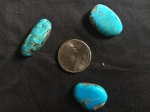 Three Bisbee Blue turquoise cabachons in Fairfax, Virginia