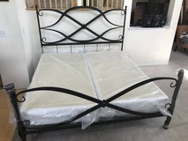 ARHAUS ST LUCIA KING IRON BED FRAME + BOXSPRING-RUST in New Lenox, Illinois