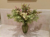 Floral Arrangement in Green Bubble Vase in Bolingbrook, Illinois