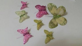 Butterflies - Artificial and sparkly- clips on back in Naperville, Illinois