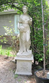 "Four Seasons Goddesses - WINTER STATUE with Plinth / Base - Concrete Resin 61.5"" in Naperville, Illinois"
