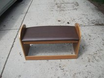 REDUCED....WOOD BENCH WITH STORAGE in Orland Park, Illinois