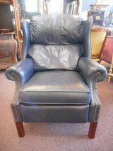 Blue Leather Recliner in Elgin, Illinois