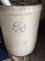 Antique Stoneware Crock Blue star 10 gallon in Schaumburg, Illinois