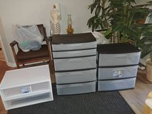 3 plastic drawer units (10 compartments if I counted right in Beale AFB, California