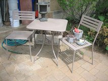 Patio Table and 2 Chairs - Metal in Naperville, Illinois