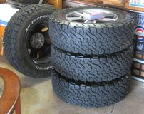 4 BF Goodrich LT275/65R18 Tires with Ford F-150 Stock Wheels & Lugnuts in Lockport, Illinois