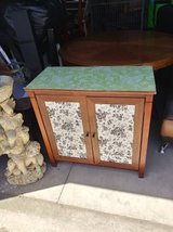 2 door cabinet with shelves shabby chic with transfers in Beale AFB, California