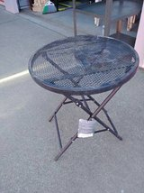 Small Folding Round Mesh table in Travis AFB, California