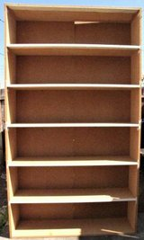 4 Large Heavy Duty Wood Shelves Garage Crafts Books in Tacoma, Washington