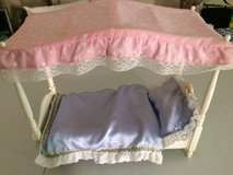 Barbie Dream Doll Canopy Bed & Bedding 1982 Mattel in Naperville, Illinois