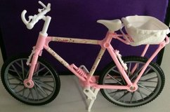 Barbie Doll Sized Toy Country Ride Bike Pink With Removable Basket in Westmont, Illinois