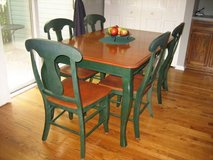 Kitchen - Breakfast Nook - Solid Wood Table and 6 Chairs in Joliet, Illinois