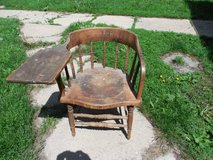 ANTIQUE DESK CHAIR-MONMOUTH COLLEGE in DeKalb, Illinois
