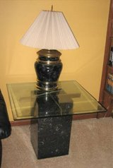 Unique Marble and Glass End Table in Joliet, Illinois