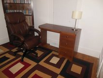 Nice Solid Wooden Desk With Italian Leather LazyBoy Chair in Sugar Grove, Illinois
