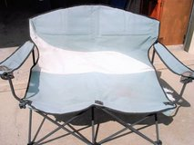 foldable double loveseat folding stadium chair in Joliet, Illinois