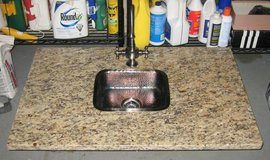 Thick Granite Counter Top with Wet Bar Sink in Naperville, Illinois