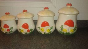Vintage 1970's Arnel's Mushroom Canister Set in Tomball, Texas