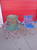 2 folding out door chairs in Roseville, California