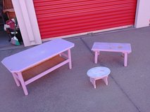 2 Benches and a stool in Beale AFB, California