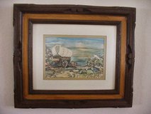 Vintage Western Covered Wagon Water color, Pastel, Pen & Ink in Lake Elsinore, California