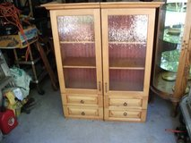 REDUCED....2 WOOD CABINET WITH GLASS DOORS in Naperville, Illinois