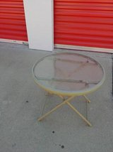 small round folding outdoor table In Fairfield on Saturday 6/16 in Roseville, California