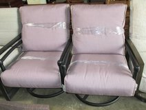 SUMMER SALE - Pair of Outdoor Mauve Swivel Chairs in Schaumburg, Illinois