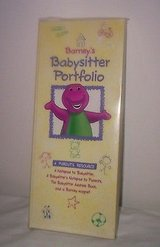New Barney Babysitter Portfolio Book Pad Address Book Set in Plainfield, Illinois