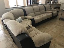 FLEXIBLE 5 PCS SECTIONAL, RECLINED SOFA & SEATS in Katy, Texas