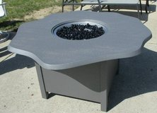 Scalloped Aluminum Outdoor Propane Fire Pit in Westmont, Illinois