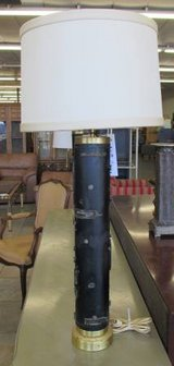 Rare PAIR of Brutalist Cylinder Lamps MCM in Elgin, Illinois