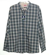 NEW w Tags Wrangler Wrinkle Resist Button Down Plaid Shirt w Pkt 3XL Green Beige White in Plainfield, Illinois