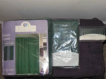 For Sale New in pk shower curtain, liner and hooks, Curtain tie backs, in Fort Belvoir, Virginia