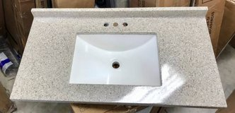 "Glacier Bay Cultured Marble Vanity Top  36.5"" x 18.7"" - New! in Plainfield, Illinois"
