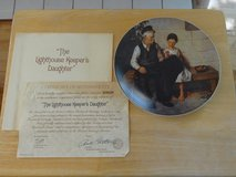 the lighthouse keepers daughter - norman rockwell - knowles bradford -  coa in Joliet, Illinois