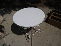 MASSIVE REDUCTION---ALL METAL WHITE OUTDOOR / INDOOR TABLE in Orland Park, Illinois