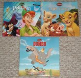 Lot of 3 Disney Hard Cover Books Lion King Dumbo Peter Pan 2010 Creative Edge in Plainfield, Illinois