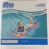 "NEW Open Water Swim 18 Pocket Pink Lounge Inflatable Float Pool Lake 74"" X 28"" in Shorewood, Illinois"